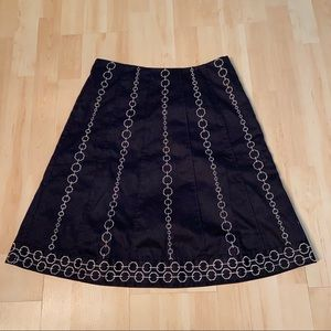 Ann Taylor a-line embroidered skirt